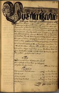 Roros bergrett - skifteprotokoll 1 - 3A01 - folio 1
