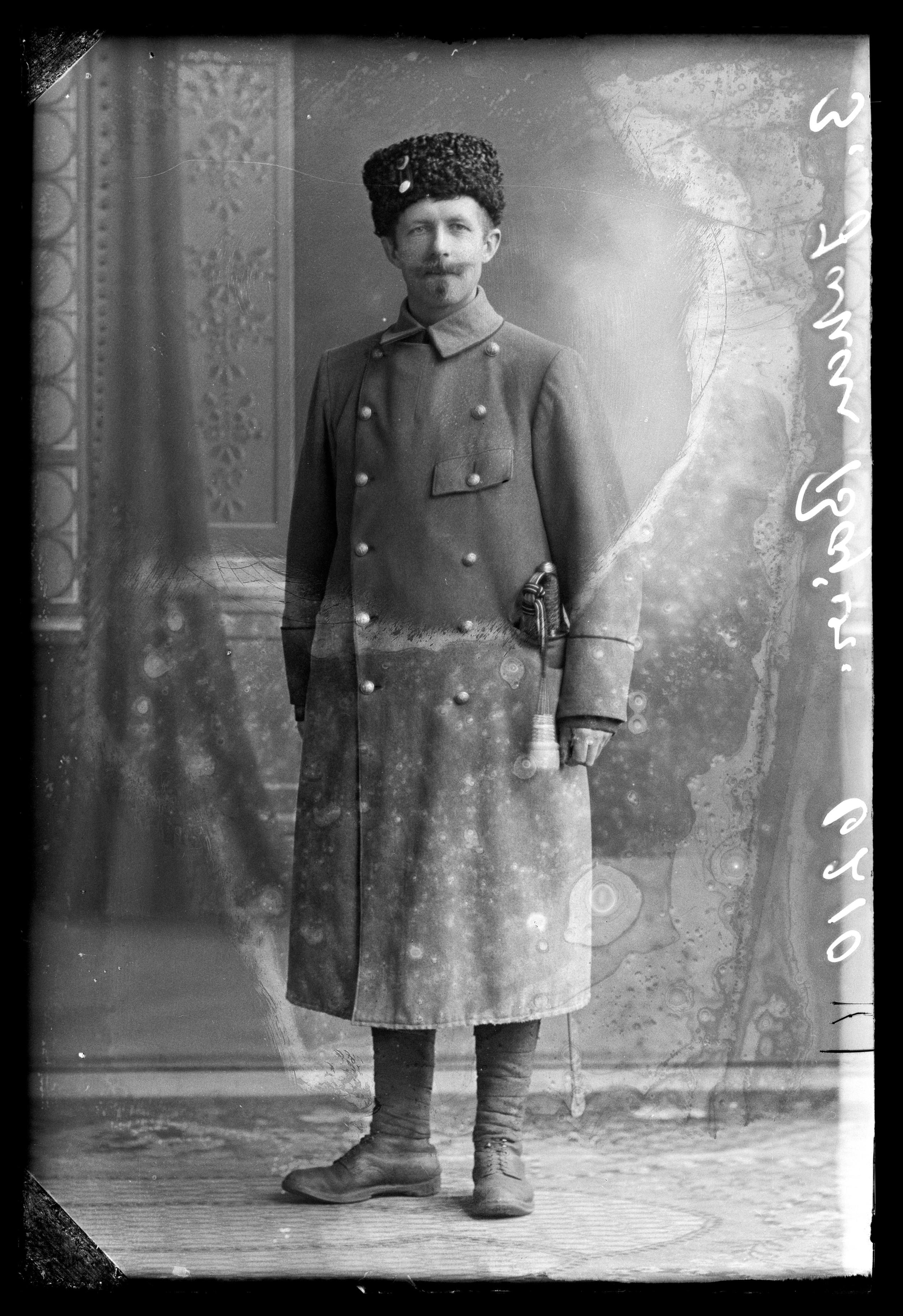 Forfatter Johan Bojer, 1872-1959, i uniform