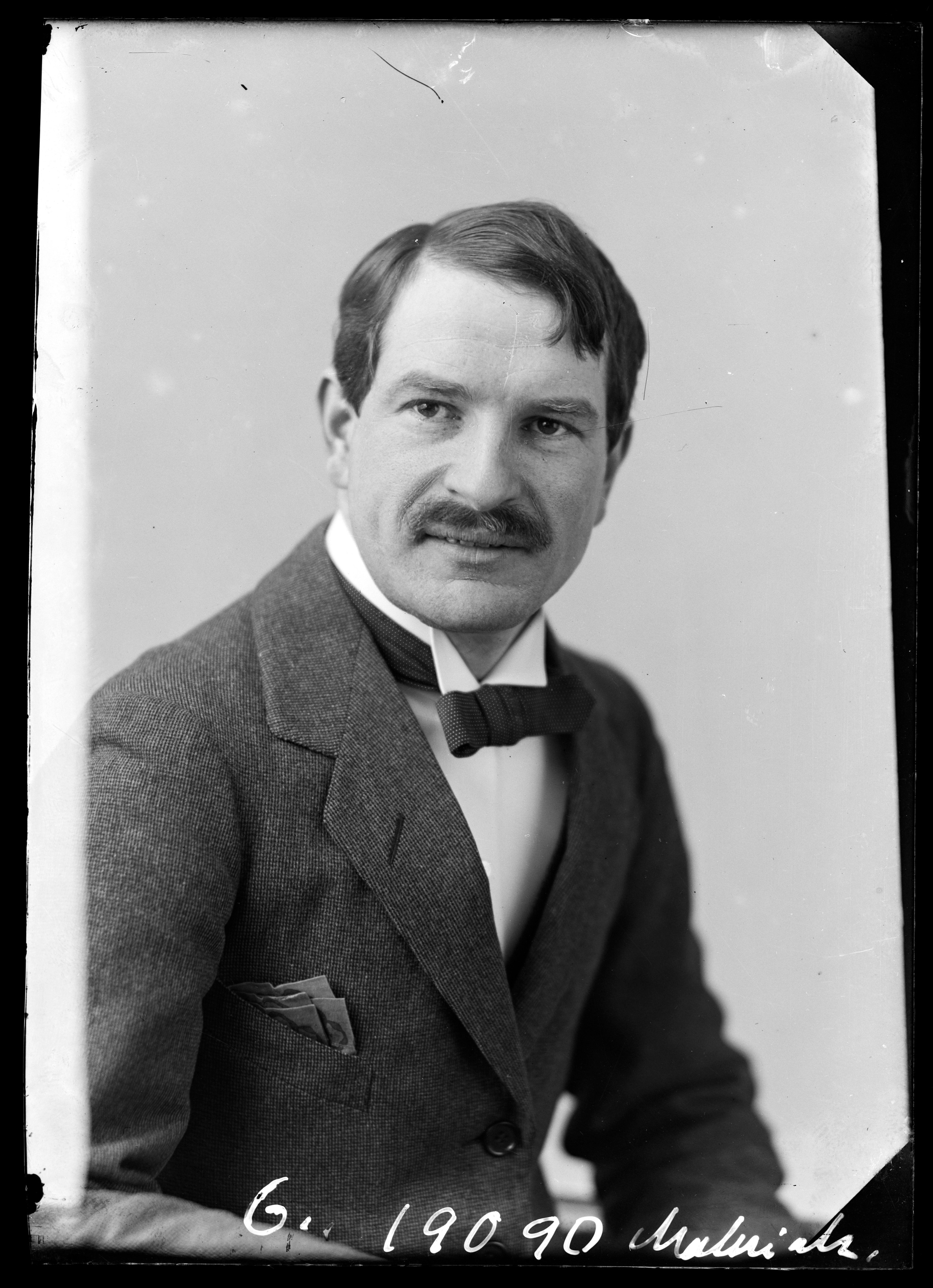 Portrettfoto av kapellmester Jan Maliniak, 1920